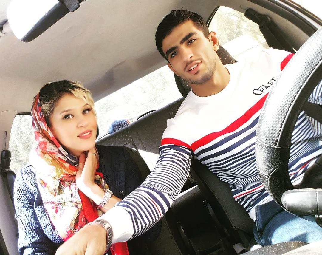 محسن محمد سیفی و همسرش مهسا جاور