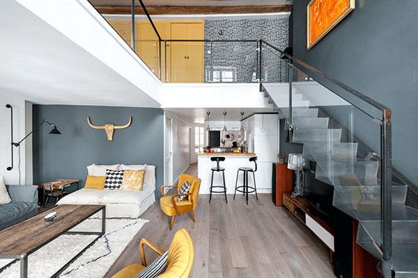 بازسازی خانه ای با طرح شکار در پاریس