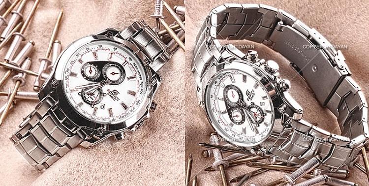 خرید ساعت مچی مردانه طرح کاسیو مدل EF 524 دارای روزشمار و ضد آب