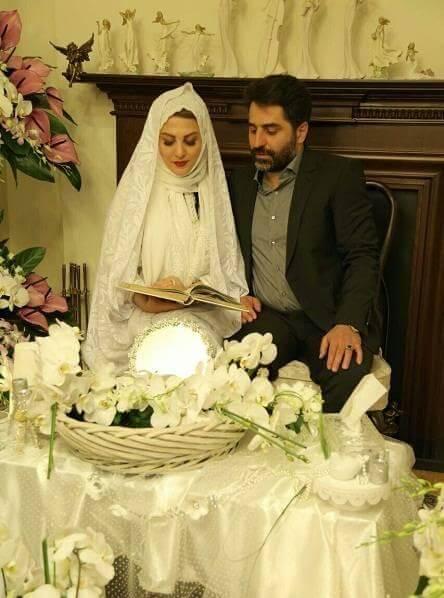 عکس ازدواج ژیلا صادقی و همسرش