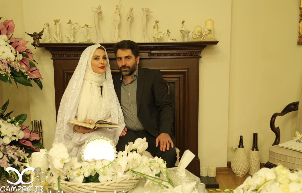 ژیلا صادقی با همسرش محسن رجبی