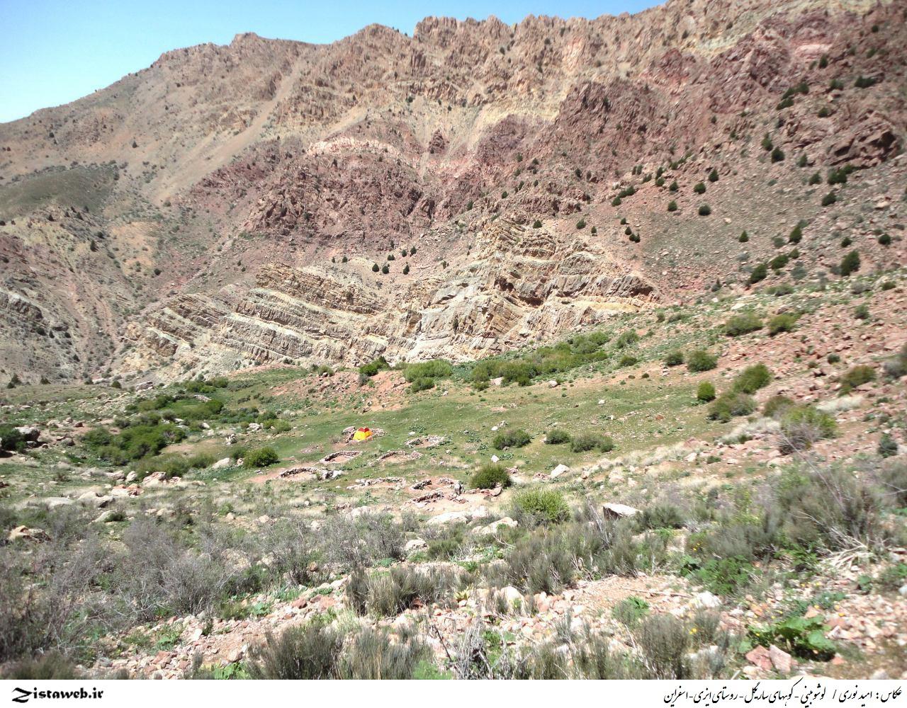 لوشوبینی - کوههای ساریگل- روستای ایزی-اسفراین / عکاس : امید نوری اسفراین