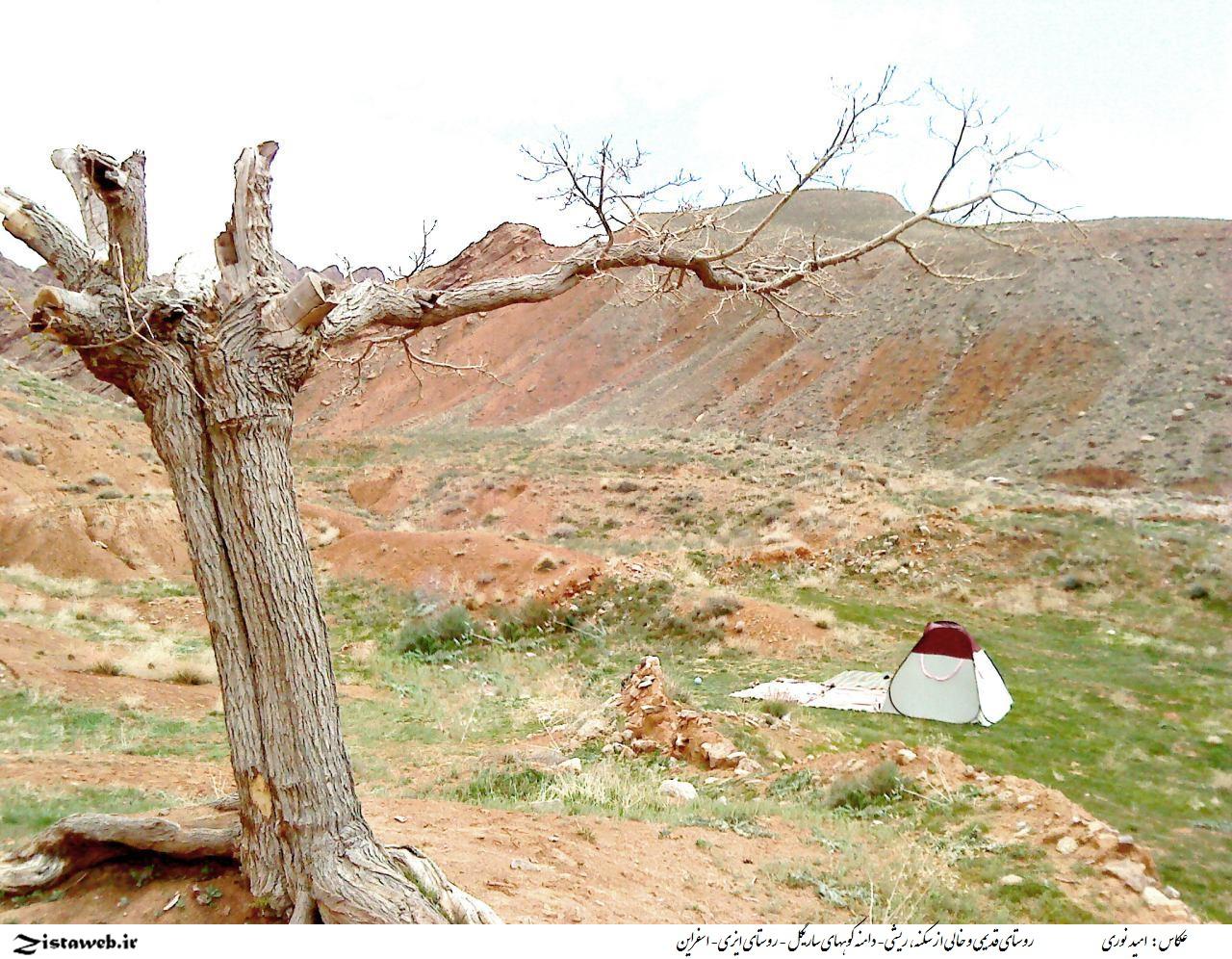 روستای قدیمی و خالی از سکنه ، ریشی- دامنه کوههای ساریگل - روستای ایزی- اسفراین/عکاس :امید نوری