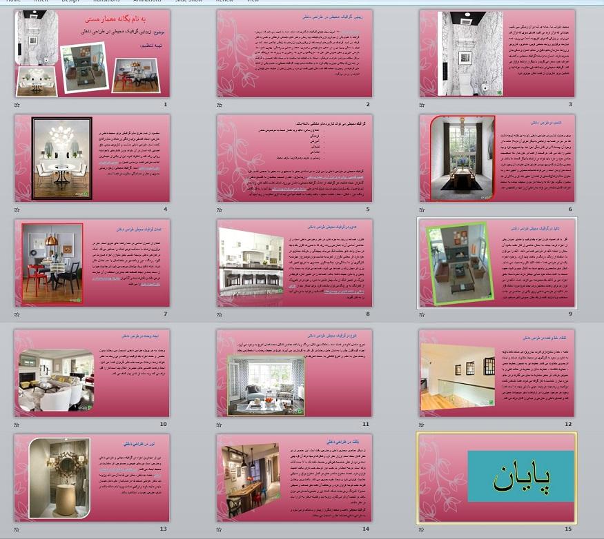 پیش نمایش زیبایی گرافیک محیطی در طراحی داخلی