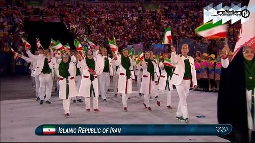 عکس کاروان ایران در افتتاحیه المپیک 2016