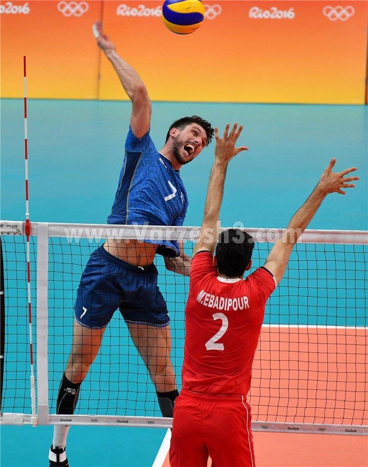 فیلم بازی والیبال ایران و آرژانتین در المپیک 2016 ریو برزیل 18 مرداد 95+نتیجه