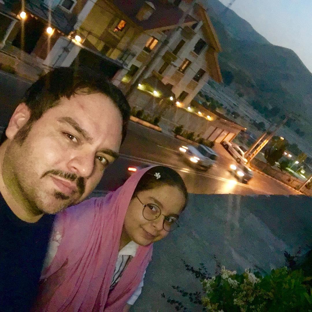 شهرام قائدی و دخترش