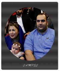 بهداد سلیمی با همسرش آلما نصرتی