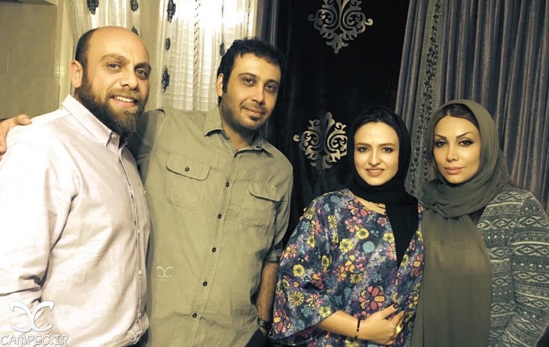محسن چاوشی با همسرش