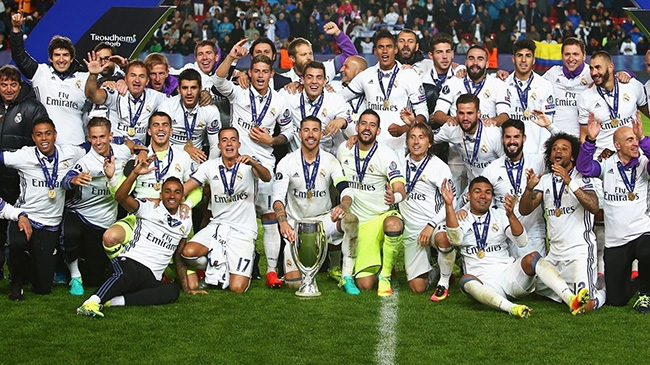 جشن قهرمانی رئال مادرید در سوپر جام اروپا 2016
