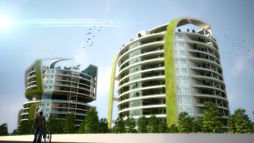 رساله مجتمع مسکونی با رویکرد معماری پایدار