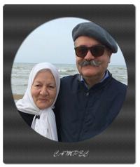 امیر شهاب رضویان با مادرش رابعه مدنی