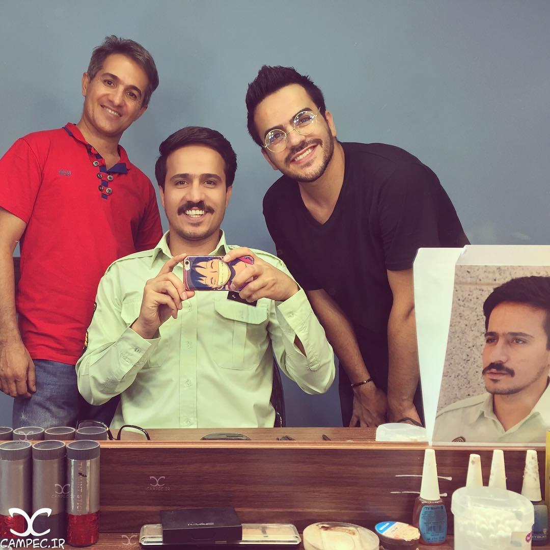 حسین سلیمانی در پشت صحنه سریال پرستاران