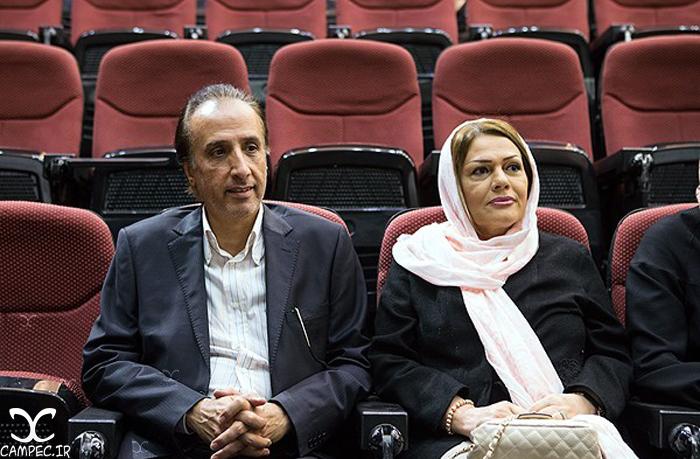 محمد رضا حیاتی و همسرش