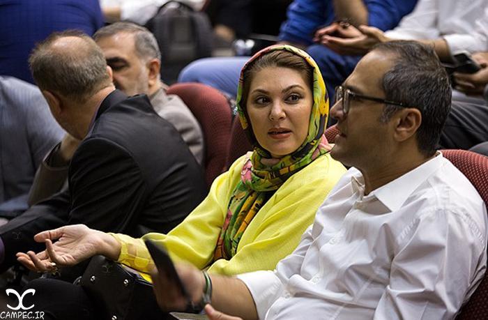 لاله اسکندری در مراسم رونمایی از عروسک جناب خان