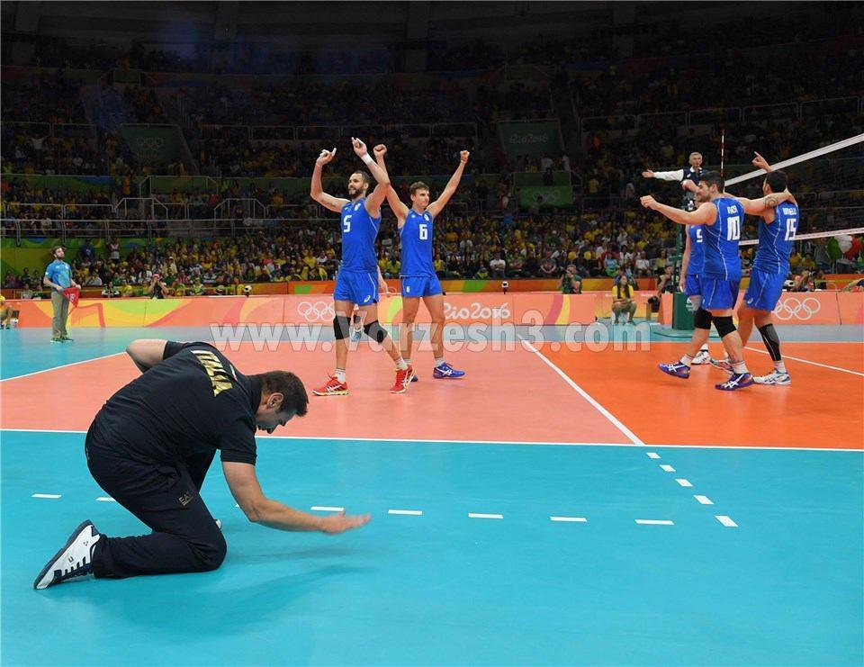 والیبال ایران و ایتالیا المپیک 2016 ریو پنجشنبه 28 مرداد 95