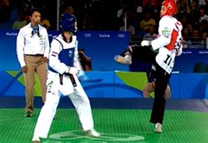 نتیجه بازی تکواندو کیمیا علیزاده مقابل حریف کروات در المپیک 2016 ریو+فیلم