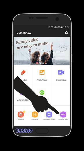 آموزش تصویری تبدیل ویدیو به MP3 صوت در اندروید