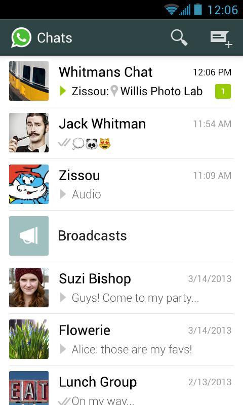 دانلود واتساپ برای اندروید ۲.۳.۷