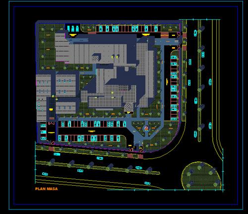دانلود فایل نقشه های معماری بیمارستان با فرمت Dwg اتوکد