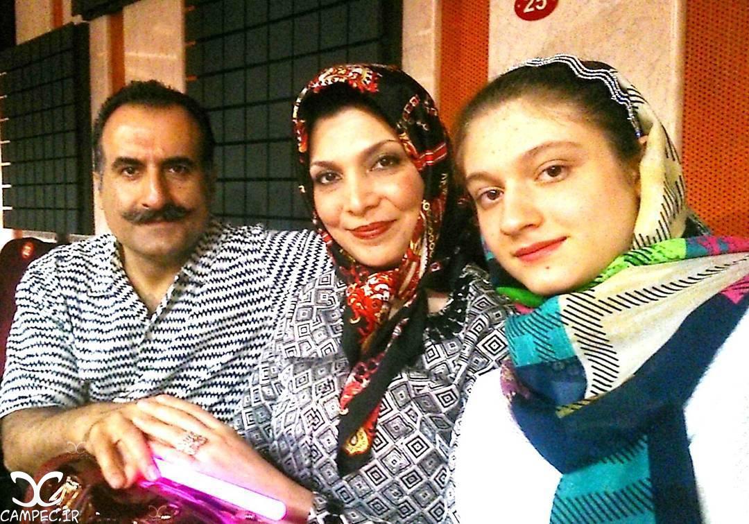 شیده معاونی با همسر و دخترش