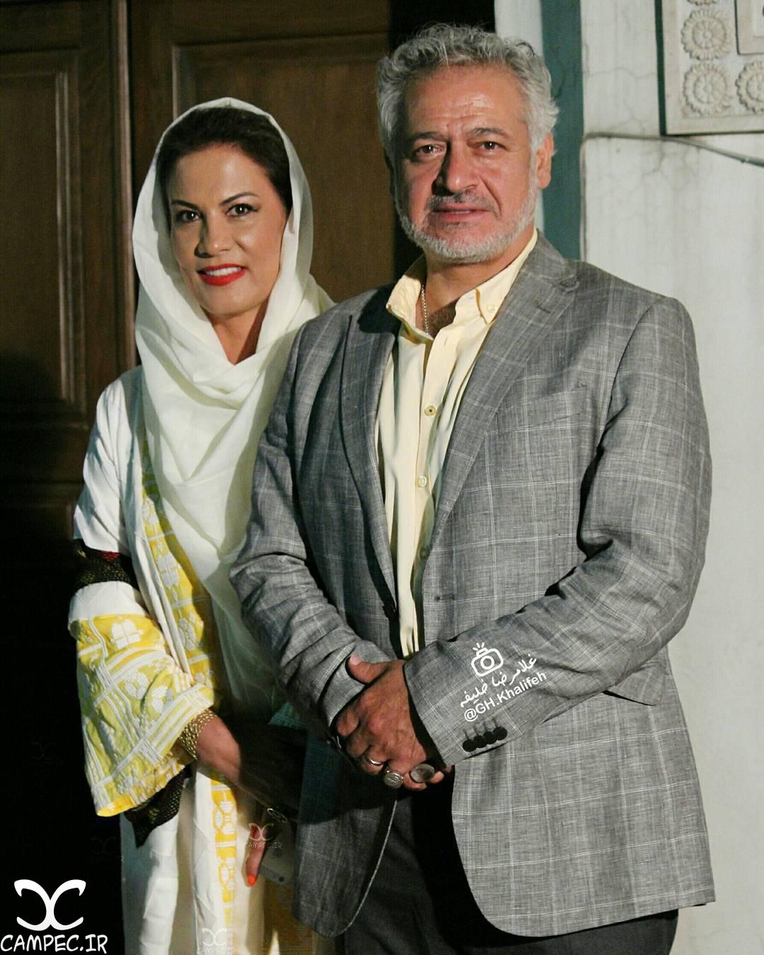مجید مشیری و همسرش در افتتاحيه فیلم آى آدمها