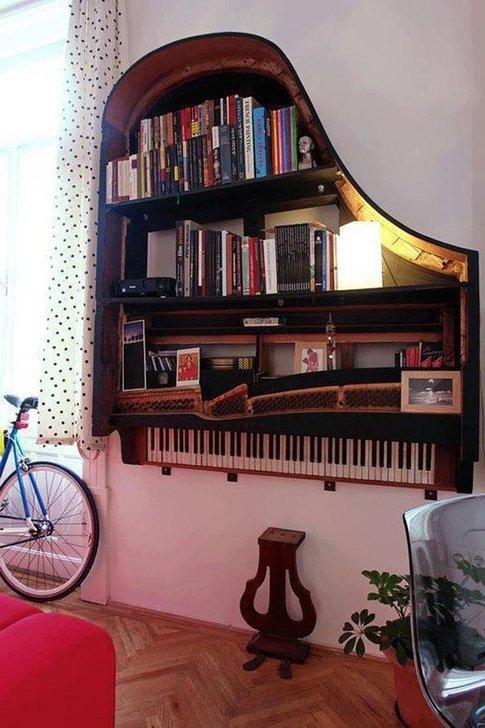 image دکوراسیون دیوار- کمد دیواری با قاب پیانو