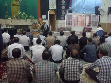 سخنرانی و اقامه نماز در مسجد بلال