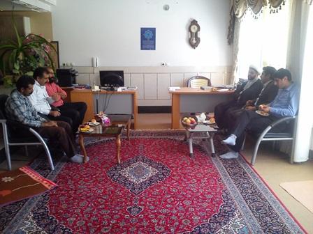 دیدار رئیس اتوبوسرانی شهرستان فلاورجان با امام جمعه قهدریجان