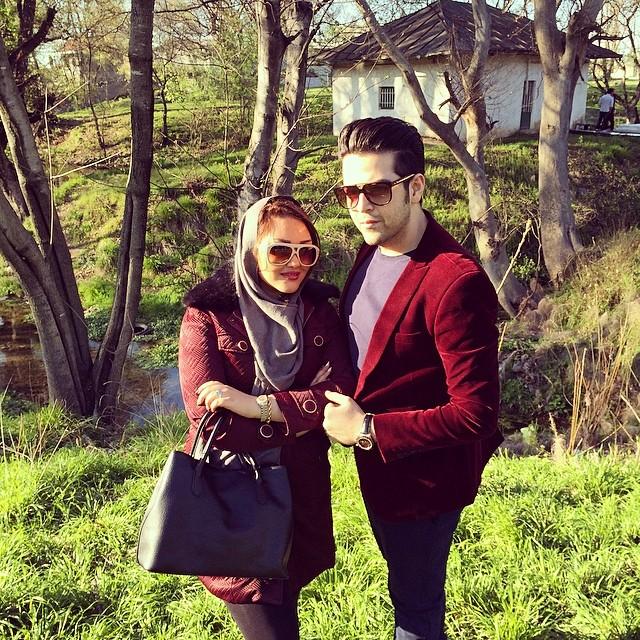 عماد طالب زاده با همسرش آتوسا یوسفی