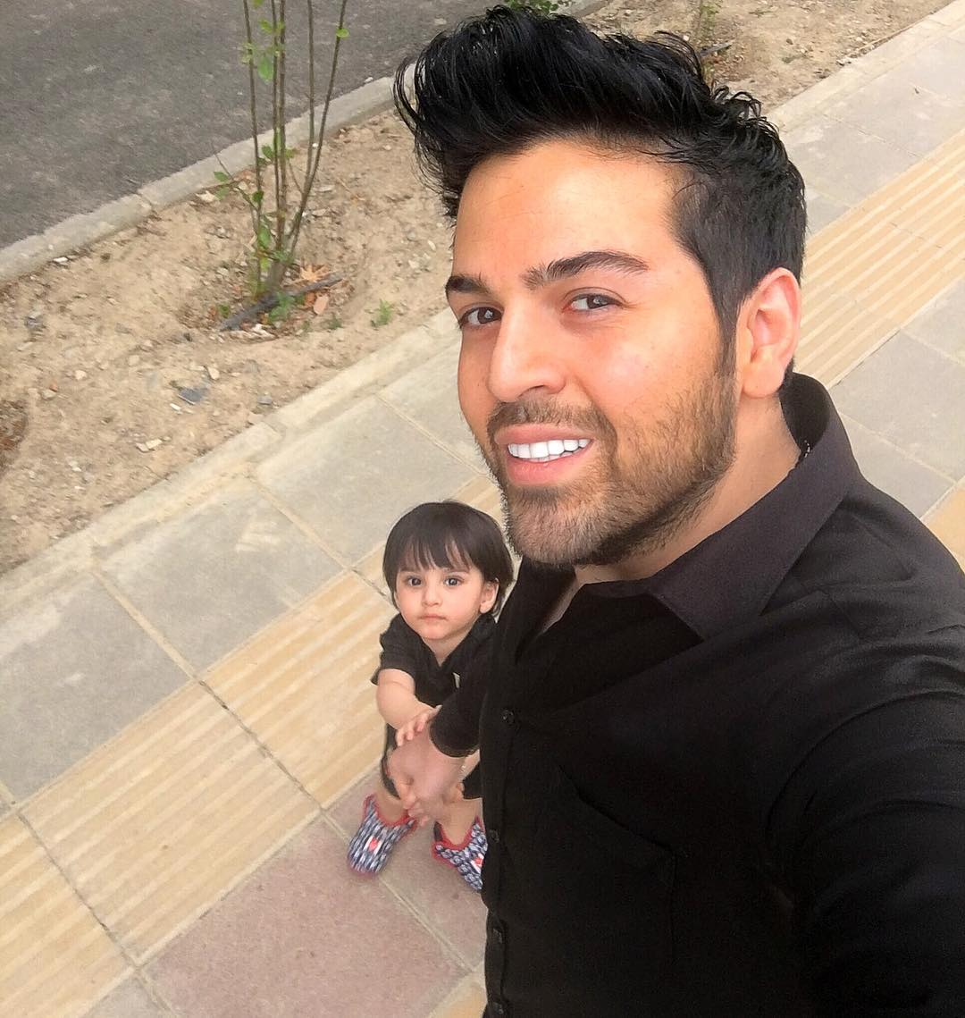 عماد طالب زاده با پسرش ساتیار