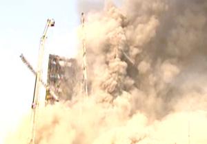 جدیدترین اخبار و تصاویر حادثه آتش سوزی و ریزش ساختمان پلاسکو+فیلم و اسامی جان باختگان