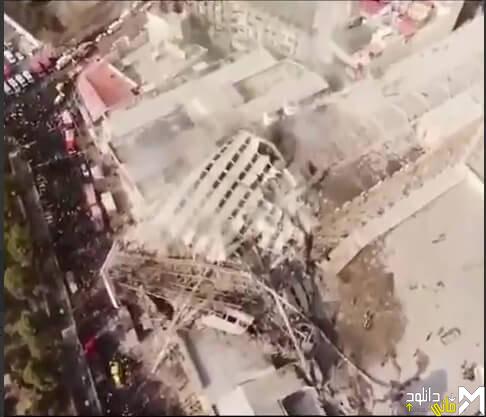 دانلود فیلم لحظه فروریختن پلاسکو + عکس های آتش نشانان