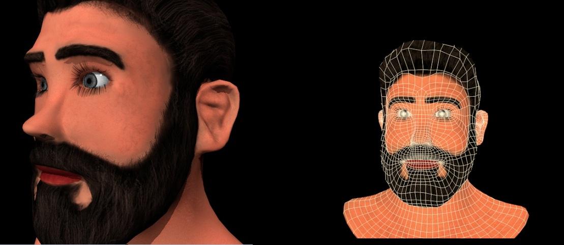 مدل سر سه بعدی