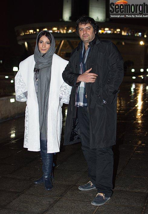 عکس سمیرا حسن زاده و همسرش سامان سالور در فستیوال فیلم فجر 35