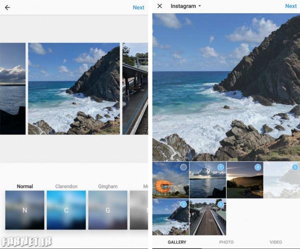 اینستاگرام در حال آزمایش قابلیتی برای قرار دادن ویژگی آلبوم عکس در پستهاست