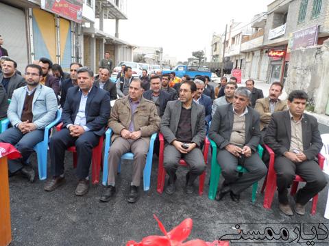 افتتاح خیابان گازرگاه شهر نورآباد
