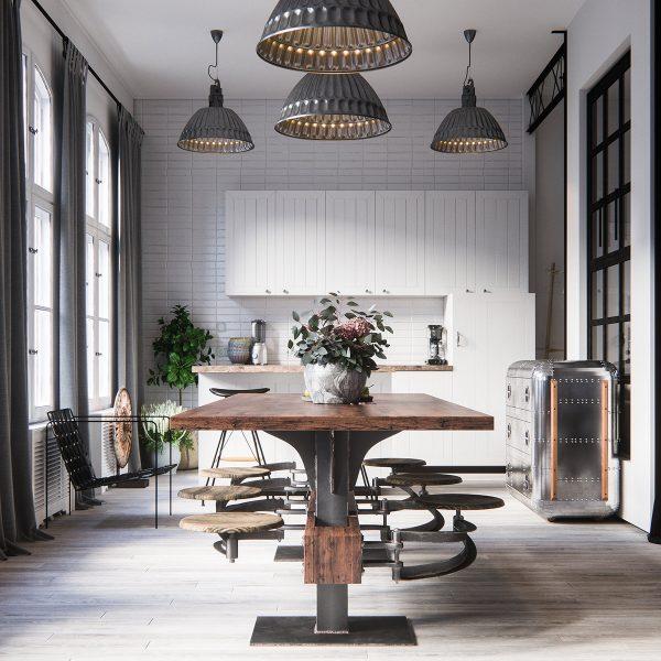 آشپزخانه به سبک صنعتی1