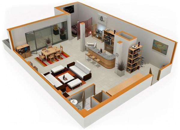 پلان و چیدمان منزل کوچک2