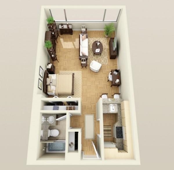 پلان و چیدمان منزل کوچک7