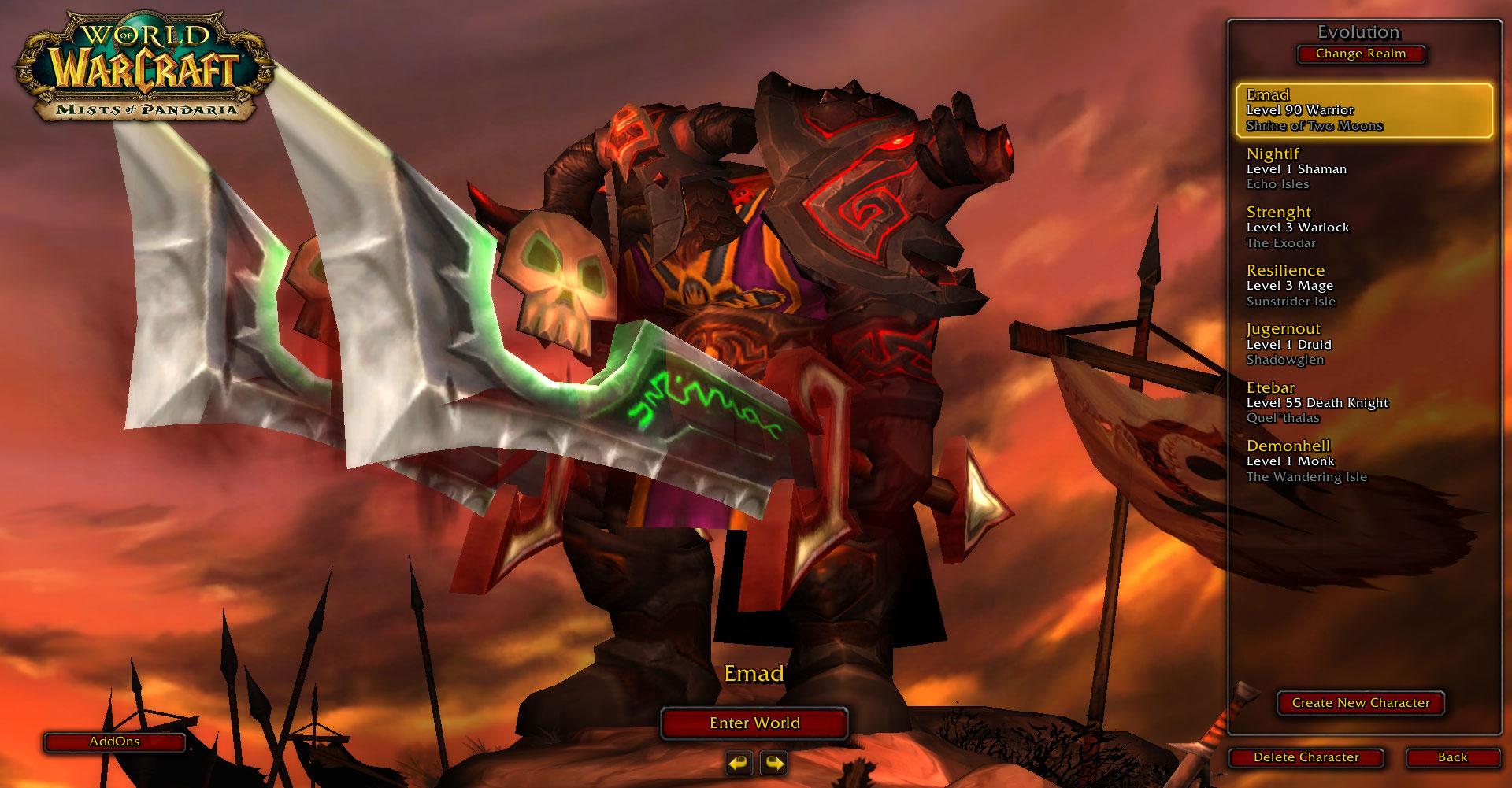 فروش هیرو Warrior - Emad - سرور WowZone