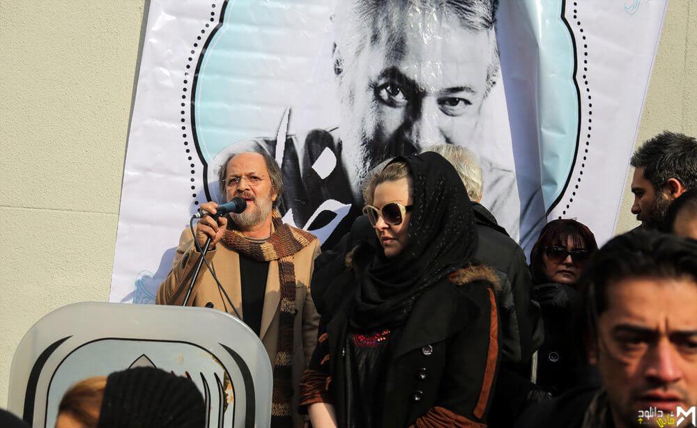 عکسهای هنرمندان در مراسم تشییع پیکر  و ختم حسن جوهرچی + فیلم